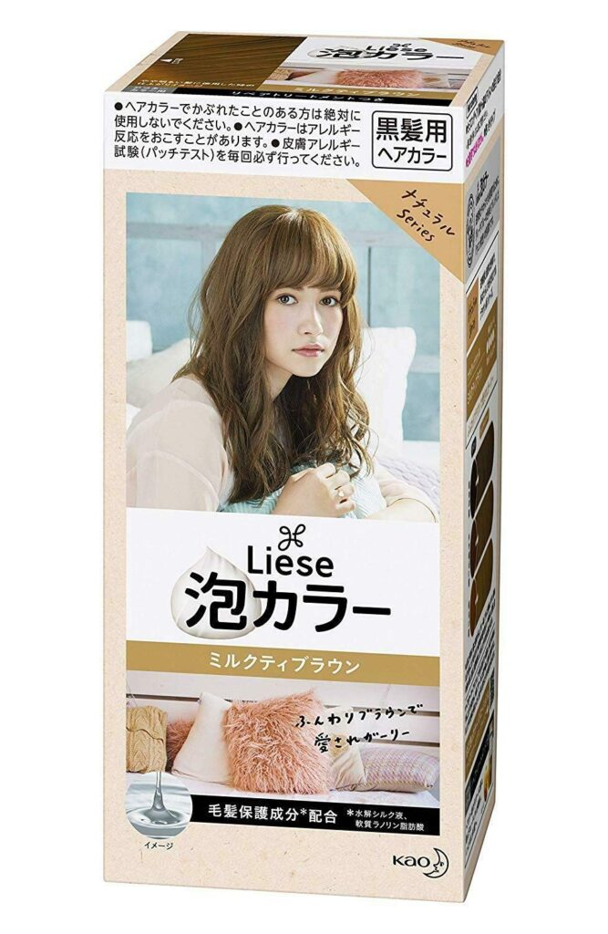 liese hair dye before and after