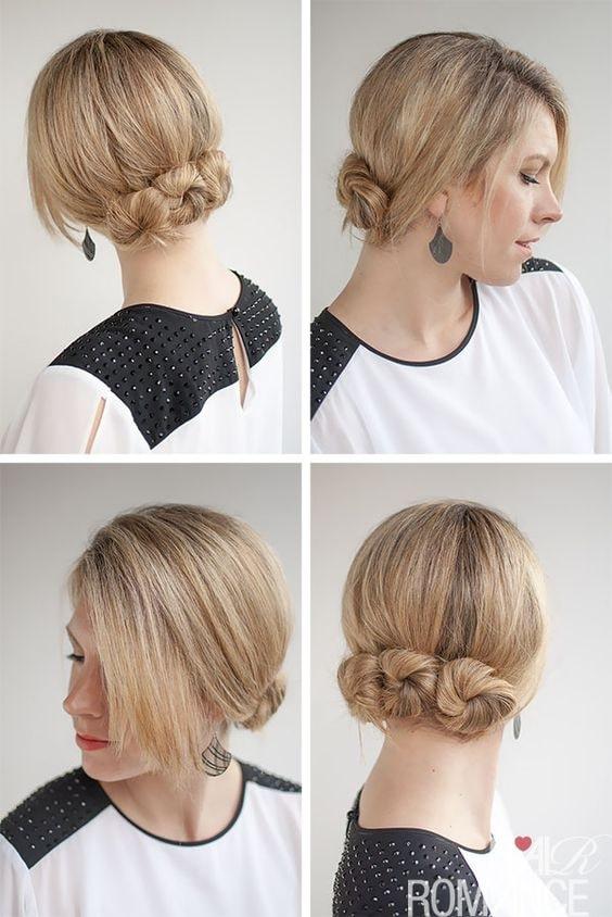 bun hairstyle for short hair