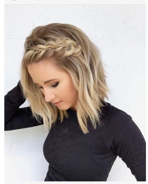 side braid on short hair girls