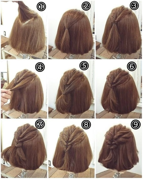 easy everyday hairstyles for short hair