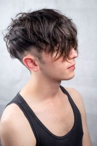 two block haircut on long hair
