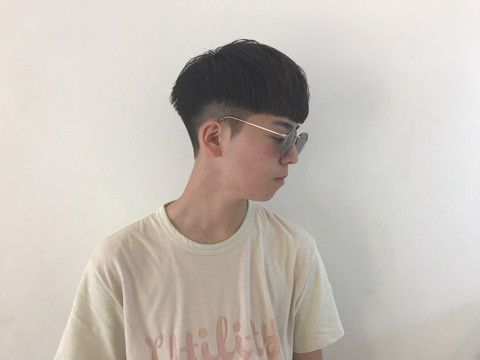 bowl cut two block style
