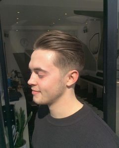 pompadour two block haircut for men