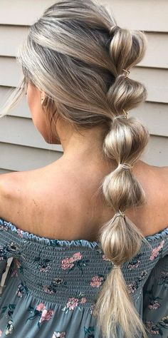 bubble braid hairstyles for teens