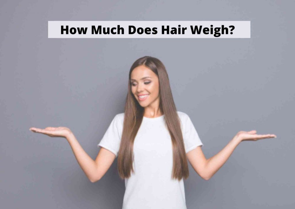 how much does hair weigh on an average