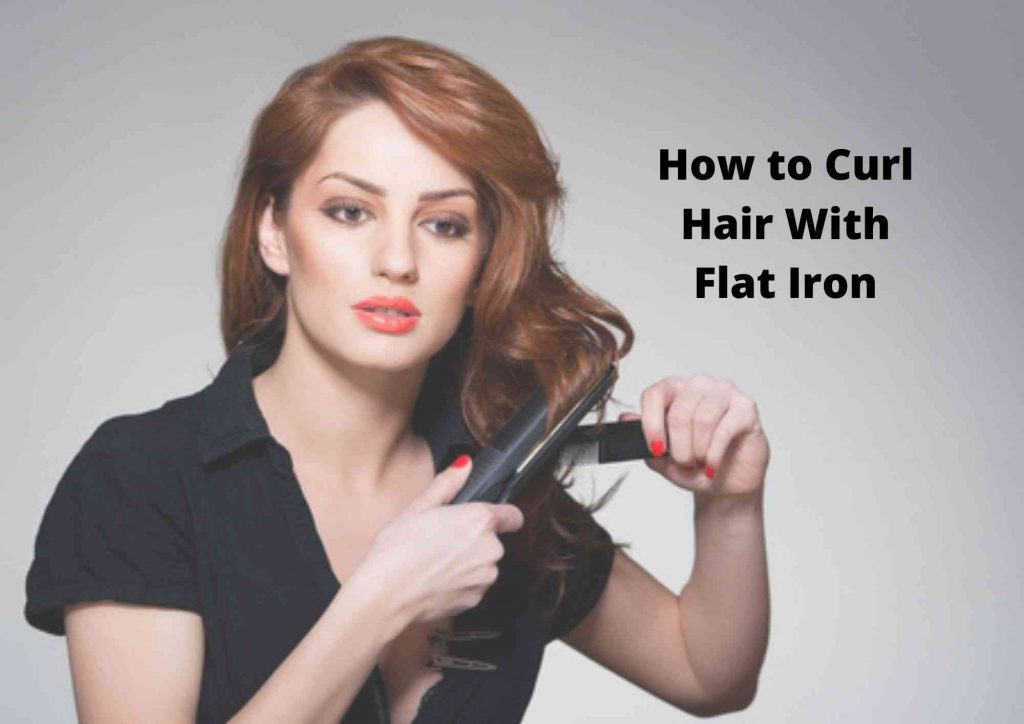 how to curl short hair with a flat iron 2
